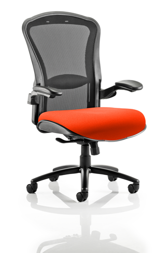 Picture of Office Chair Company Houston Black Mesh Back Bespoke Seat In Pimento