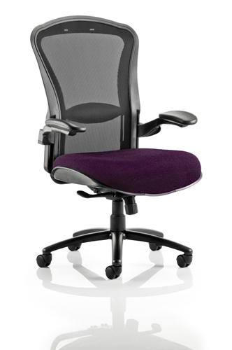 Picture of Office Chair Company Houston Black Mesh Back Bespoke Seat In Purple
