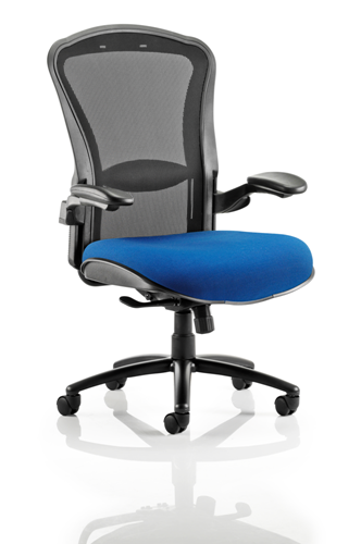 Picture of Office Chair Company Houston Black Mesh Back Bespoke Seat In Serene