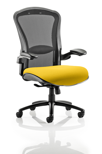 Picture of Office Chair Company Houston Black Mesh Back Bespoke Seat In Sunset