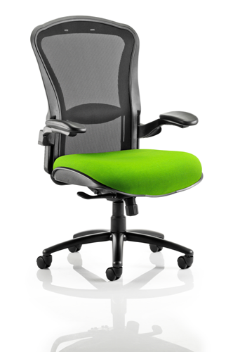 Picture of Office Chair Company Houston Black Mesh Back Bespoke Seat In Swizzle