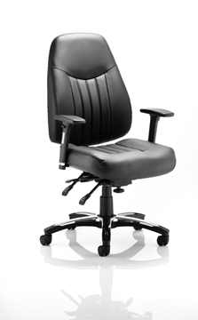 Picture of Office Chair Company Barcelona Deluxe Task Operator Chair Leather