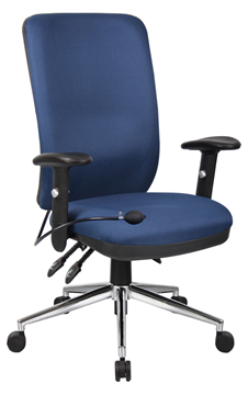 Picture of Office Chair Company Chiro Task Operators Chair Blue With Arms High Back