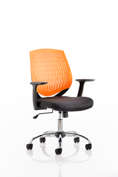 Picture of Office Chair Company Dura Task Operator Chair Orange With Arms