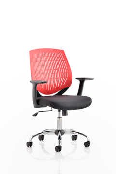 Picture of Office Chair Company Dura Task Operator Chair Red With Arms
