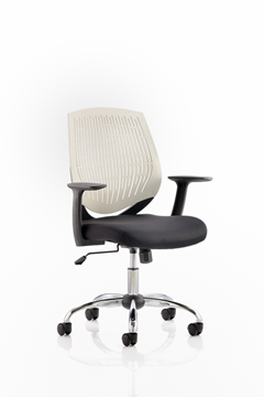 Picture of Office Chair Company Dura Task Operator Chair White With Arms