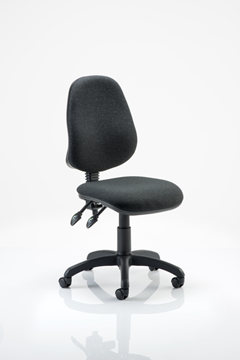 Picture of Office Chair Company Eclipse II Lever Task Operator Chair Charcoal Without Arms