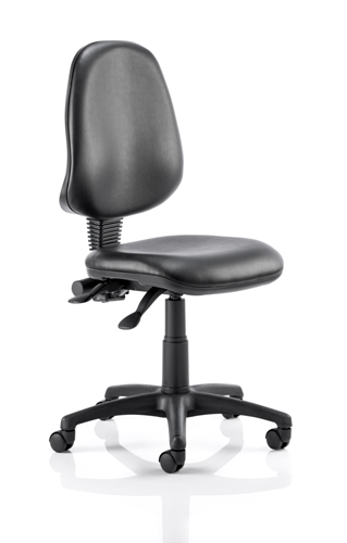 Picture of Office Chair Company Eclipse II Lever Task Operator Chair Vinyl Black Without Arms