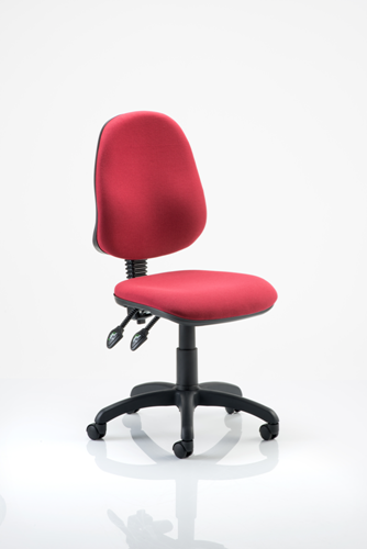 Picture of Office Chair Company Eclipse II lever Task Operator Chair Wine Without Arms