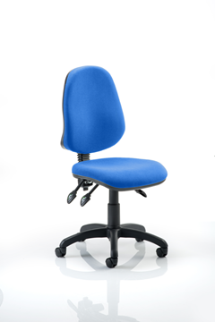 Picture of Office Chair Company Eclipse III Lever Task Operator Chair Blue Without Arms