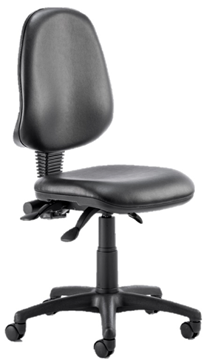 Picture of Office Chair Company Eclipse III Lever Task Operator Chair Vinyl Black Without Arms