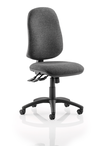 Picture of Office Chair Company Eclipse XL III Lever Task Operator Chair Charcoal Without Arms