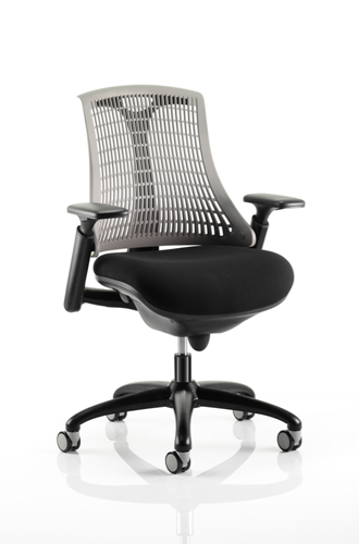 Picture of Office Chair Company Flex Task Operator Chair Black Frame With Black Fabric Seat Grey Back With Arms