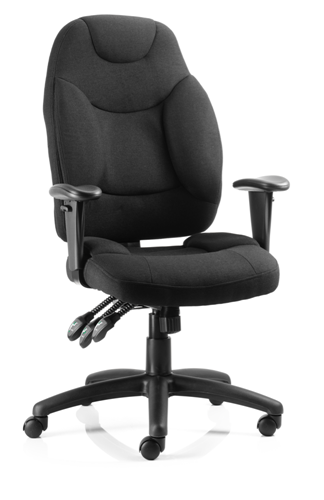 Picture of Office Chair Company Galaxy Task Operator Chair Black Fabric With Arms