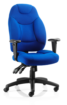 Picture of Office Chair Company Galaxy Task Operator Chair Blue Fabric With Arms