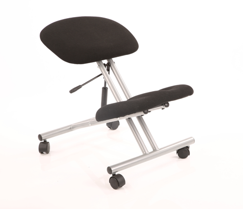 Picture of Office Chair Company Kneeling Stool Task Operator Black Fabric Silver Frame
