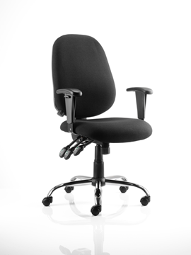 Picture of Office Chair Company Lisbon Task Operator Chair Black Fabric With Arms