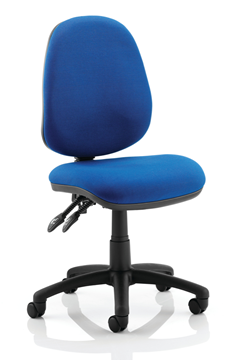 Picture of Office Chair Company Luna II Lever Task Operator Chair Blue Without Arms