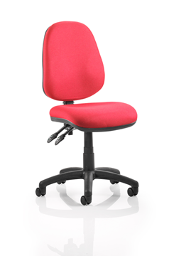 Picture of Office Chair Company Luna II Lever Task Operator Chair Burgundy Without Arms