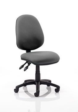 Picture of Office Chair Company Luna II Lever Task Operator Chair Charcoal Without Arms