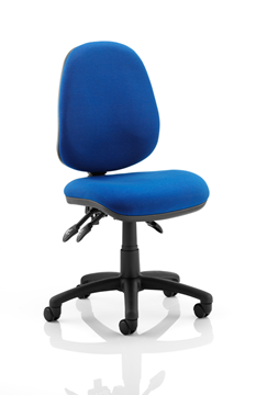 Picture of Office Chair Company Luna III Lever Task Operator Chair Blue Without Arms