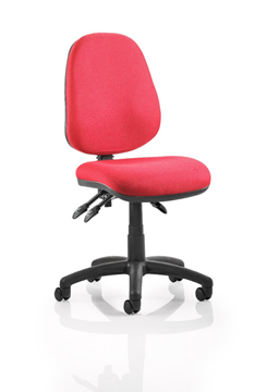 Picture of Office Chair Company Luna III Lever Task Operator Chair Burgundy Without Arms