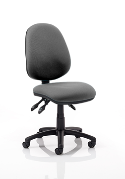 Picture of Office Chair Company Luna III Lever Task Operator Chair Charcoal Without Arms