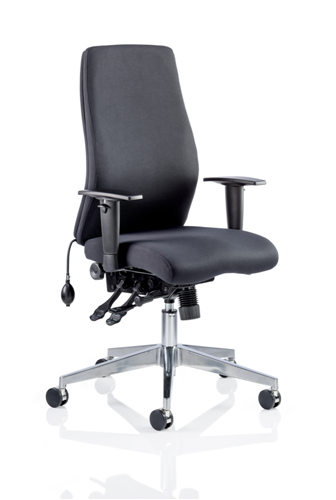 Picture of Office Chair Company Onyx Ergo Posture Chair Black Fabric Without Headrest With Arms