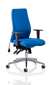 Picture of Office Chair Company Onyx Ergo Posture Chair Blue Fabric Without Headrest With Arms