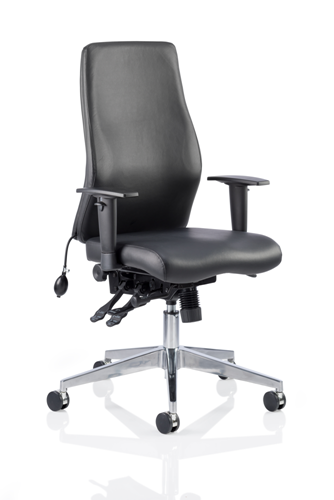 Picture of Office Chair Company Onyx Ergo Posture Chair Black Bonded Leather Without Headrest With Arms