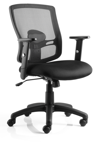 Picture of Office Chair Company Portland Task Operator Chair Black Mesh With Arms