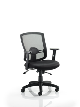 Picture of Office Chair Company Portland II Task Operator Chair Black Mesh With Arms