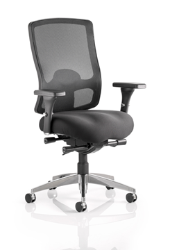Picture of Office Chair Company Regent Task Operator Chair Black Fabric Black Mesh Back With Arms