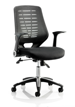 Picture of Office Chair Company Relay Task Operator Chair Airmesh Seat Black Back With Arms