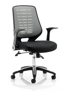 Picture of Office Chair Company Relay Task Operator Chair Airmesh Seat Silver Back With Arms