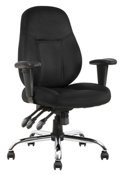 Picture of Office Chair Company Storm Task Operator Chair Black Fabric With Arms