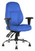 Picture of Office Chair Company Storm Task Operator Chair Blue Fabric With Arms