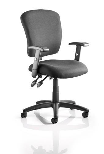 Picture of Office Chair Company Toledo Task Operator Chair Black Fabric With Arms