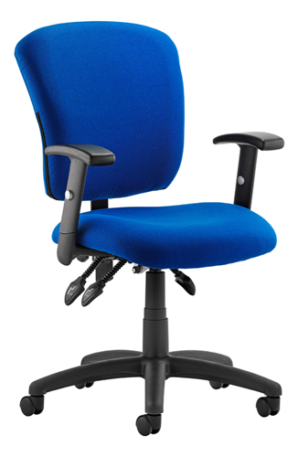 Picture of Office Chair Company Toledo Task Operator Chair Blue Fabric With Arms