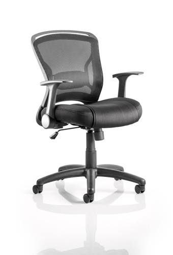 Picture of Office Chair Company Zeus Task Operator Chair Black Fabric Black Mesh Back With Arms
