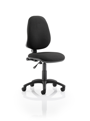Picture of Office Chair Company Eclipse I Lever Task Operator Chair Black Without Arms
