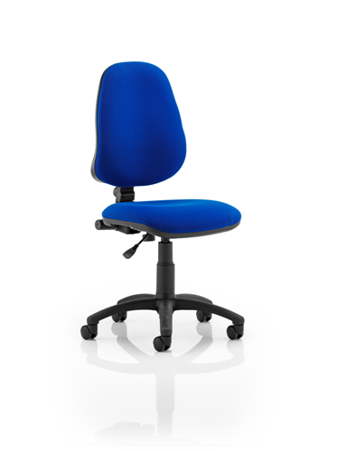 Picture of Office Chair Company Eclipse I Lever Task Operator Chair Blue Without Arms