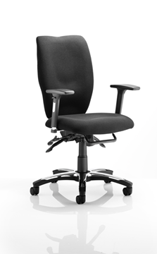 Picture of Office Chair Company Sierra Executive Chair Black Fabric With Arms
