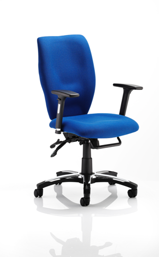 Picture of Office Chair Company Sierra Executive Chair Blue Fabric With Arms