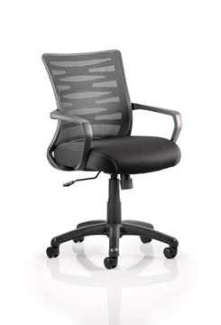 Picture of Office Chair Company Vortex Task Operator Chair Black Mesh Back With Arms