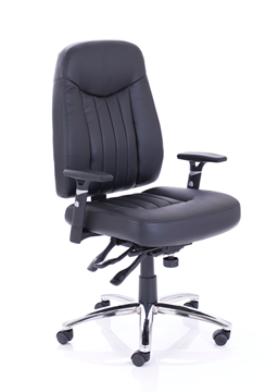 Picture of Office Chair Company Barcelona Plus Task Operator Chair Leather With Arms