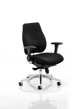 Picture of Office Chair Company Chiro Plus Ergo Posture Chair Black With Arms