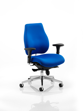 Picture of Office Chair Company Chiro Plus Ergo Posture Chair Blue With Arms
