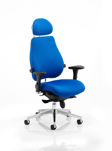 Picture of Office Chair Company Chiro Plus Ultimate Blue With Arms With Headrest
