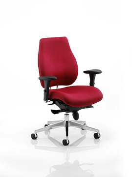 Picture of Office Chair Company Chiro Plus Ergo Posture Chair Wine With Arms
